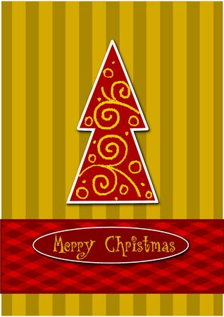 Colorful christmas tree - beauty vector illustration Stock Vector - 15476083
