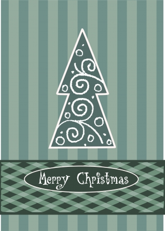 Pattern abstract christmas tree - vector illustration