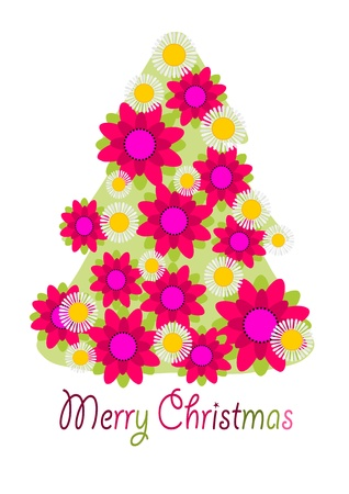 Flowers tree for christmas time. Stock Vector - 15644270