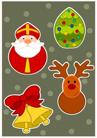 Wallpaper for christmas time Vector