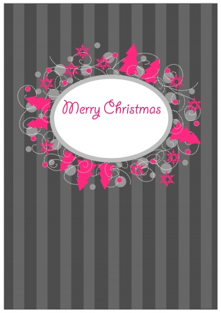 Colorful ornamental christmas postcard   Vector