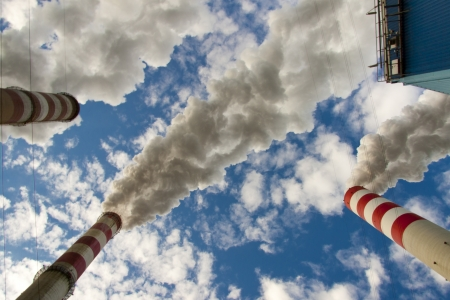 Big pollution in polish coal power plant  photo