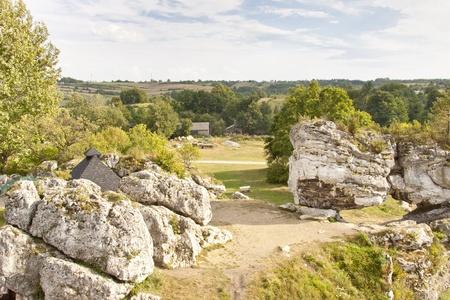 bobolice: View on rocks - Jura region in Poland, Silesia