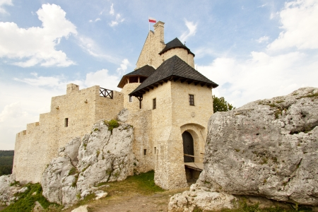 bobolice: Summer sunny day - Bobolice Castle, Poland  Editorial