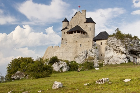 bobolice: View on old castle in Bobolice - Poland, Silesia Region  Editorial