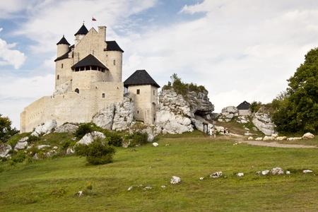 bobolice: Silesia Region, Poland - Bobolice village  Old Castle on the hill  Editorial