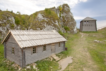 ogrodzieniec: View on old settlement on Birow mountain near Ogrodzieniec - Poland, Silesia Region
