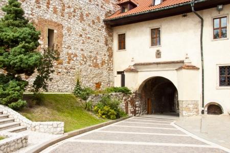 benedictine: Puerta al monasterio benedictino de Tyniec, Cracovia - Polonia