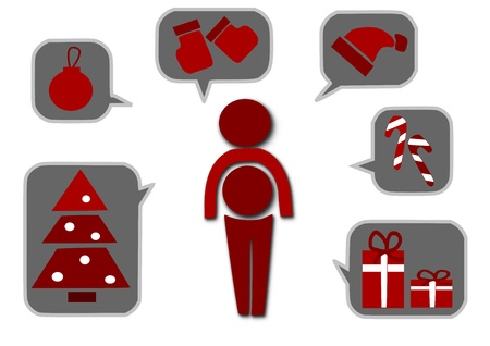 hollyberry: Simple icons for christmas time - vector illustration