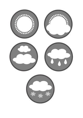 weather symbols: Simple weather symbols - vector illustration.