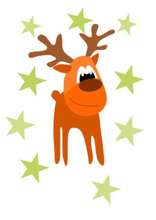 rein: Funny rein deer - illustration for christmas time.
