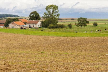 View on small village - rural  Summer time  Poland Stock Photo - 17282470