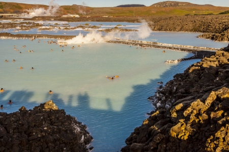 grindavik: Blue Lagoon - Spa resorts in Iceland. Stock Photo