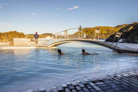 Iceland - Blue Lagoon exclusive spa resorts. photo
