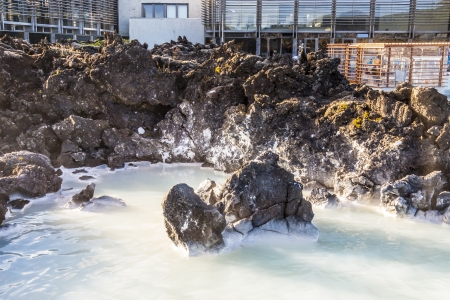 Beauty Spa resorts in Blue Lagoon on Iceland. photo