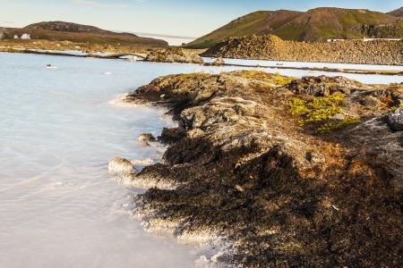 grindavik: Coast of Blue Lagoon Spa - Iceland. Stock Photo