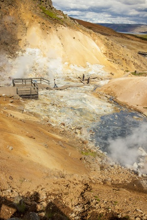 grindavik: Beauty colorful geothermal area near Grindavik - Iceland Stock Photo
