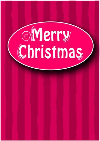Merry christmas text on colorful card Stock Vector - 16391510