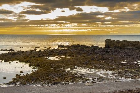 Beauty colourful sunset on Iceland