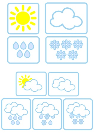 Simple weather icons Stock Vector - 16915532