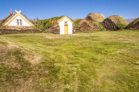 Green old traditional Icelandic farm - Glaumber, Iceland