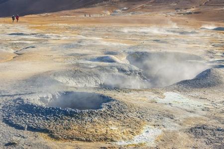 Namafjall hot springs - Myvatn area, Iceland  Colourful volcanic landscape  Stock Photo - 17282529