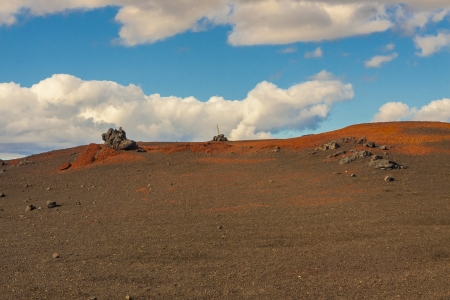 Colourful volcanic ground on ptah to Vitio lake - Iceland  photo
