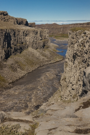 Jokulsa a Fjollum canyon  It is the second longest river of Iceland  It streams over the waterfalls Selfoss and Dettifoss  photo