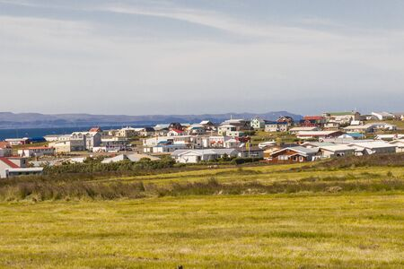View on Porshofn fishing village - north part of Iceland  photo