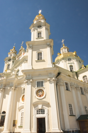 Front of main church in Pochaiv Monastery - Ukraone. Blue sky, summer day. Stock Photo - 17997866