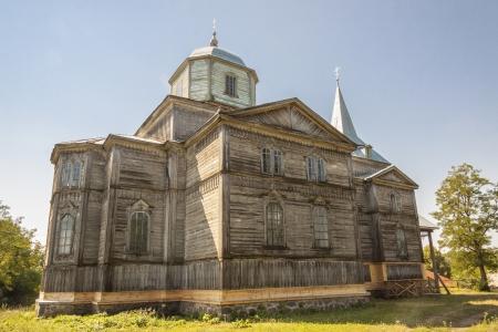 orthodoxy: Old wooden orthodoxy church in Pobirka village near Uman - Ukraine, Europe.