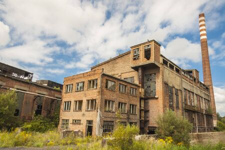 Old abandon building of paperworks in Kalety - Poland, Silesia province, Europe  photo