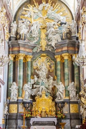 Interior of Basilica in Jasna Gora Sanctuary, Czestochowa, Poland  Editorial