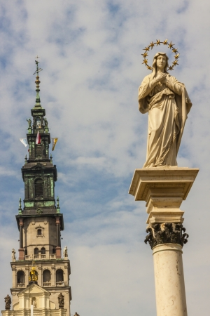 gora: Tower of Jasna Gora Sanctuary - Czestochowa, Poland