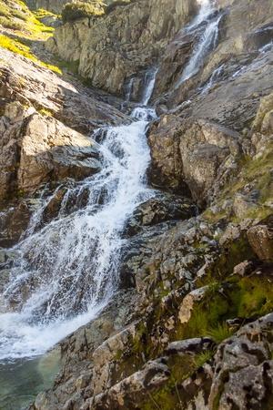 Part of beauty big Siklawa waterfall in Tatra Mountains - Poland, Europe. Stock Photo - 18962436