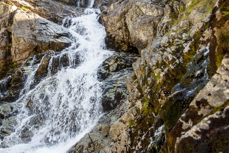 Detail of Siklawa big beauty waterfall in Tatra Mountains - Poland. Stock Photo - 18962422