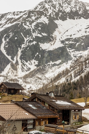 Spring in Alps. Small vllage - Switzerland. photo