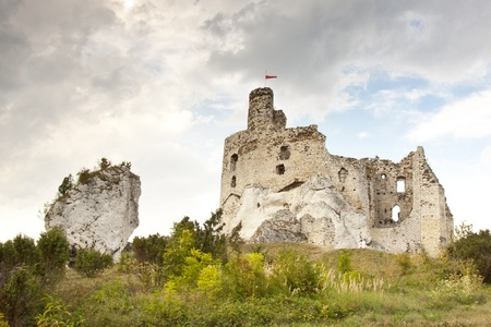 Ruins of Mirow Castle in Poland, Silesia, Jura Region. photo