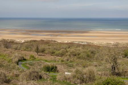 omaha: View on Omaha beach, Normandy - France, Europe. Stock Photo