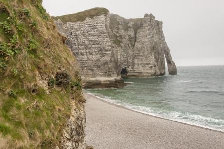 Etretat, France - Cliffs at Cote d Stock Photo