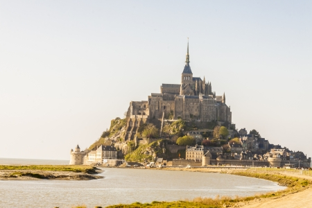 View of Mont Saint Michele in Normandy, France