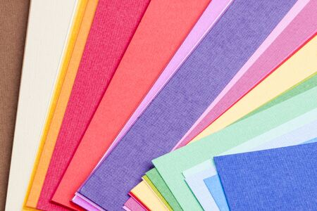 Colourful paper palette. photo