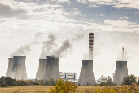 Thermal power station on coal - Poland. Stock Photo