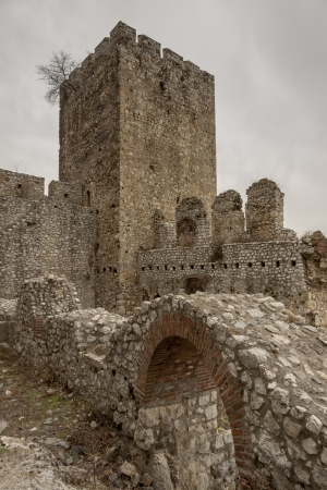 Golubac Fortress - 12th century castle located at the entrance of river Danube  North Serbia