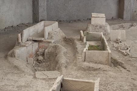 Skeleton in archaeological site of Viminacium Roman city near Kostolac - Serbia  photo