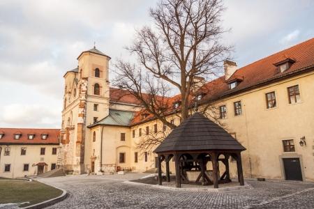 benedictine: Monasterio benedictino - Tyniec, Polonia. Foto de archivo