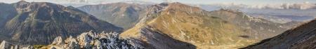 Panoramic view on Czerwone Wierchy from Kasprowy Wierch - Tatras Mounatins