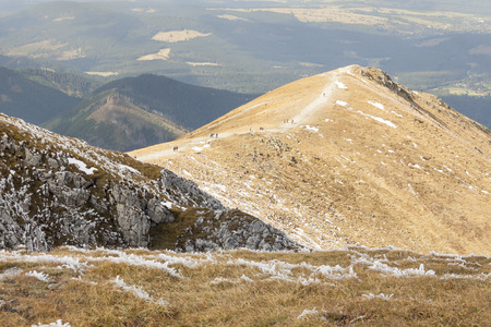View from Ciemniak  - Polish Tatras Mountains  Autumn day  photo