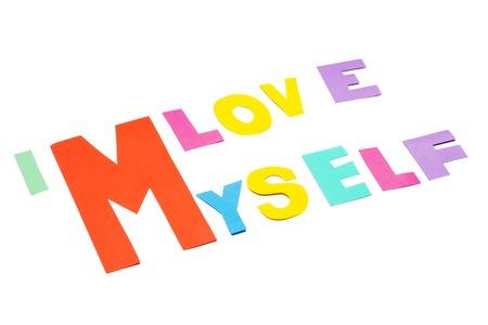narcissism: I love myself  Stock Photo