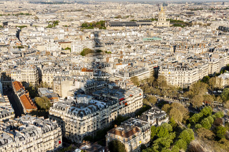 Aerial view from Eiffel Tower - Paris, France. photo